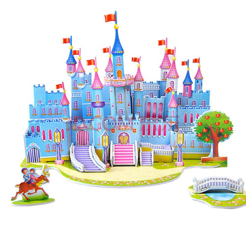 拼图儿童益智玩具diy小屋手工拼装纸建筑模型