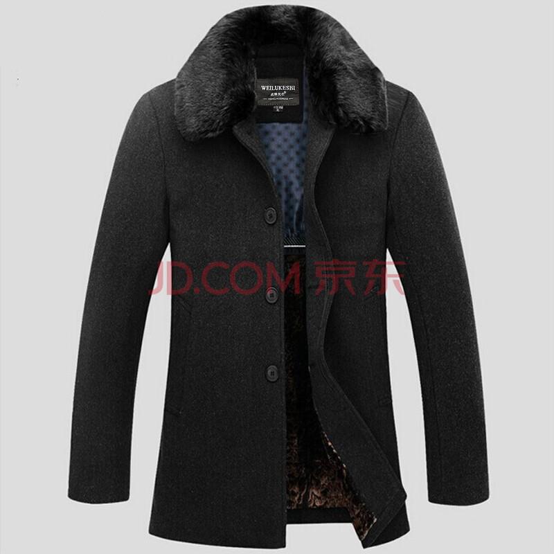 男士毛呢大衣 中长款呢子风衣毛呢外套