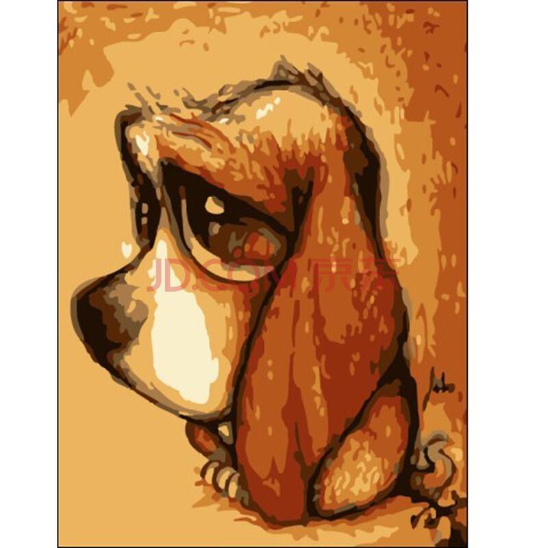 客厅风景情侣手绘画 萌宠动物系列
