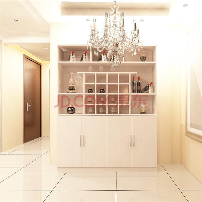 【法罗纳】简约现代板式家具餐厅酒柜餐边柜储带抽屉展示酒柜现生产可图片