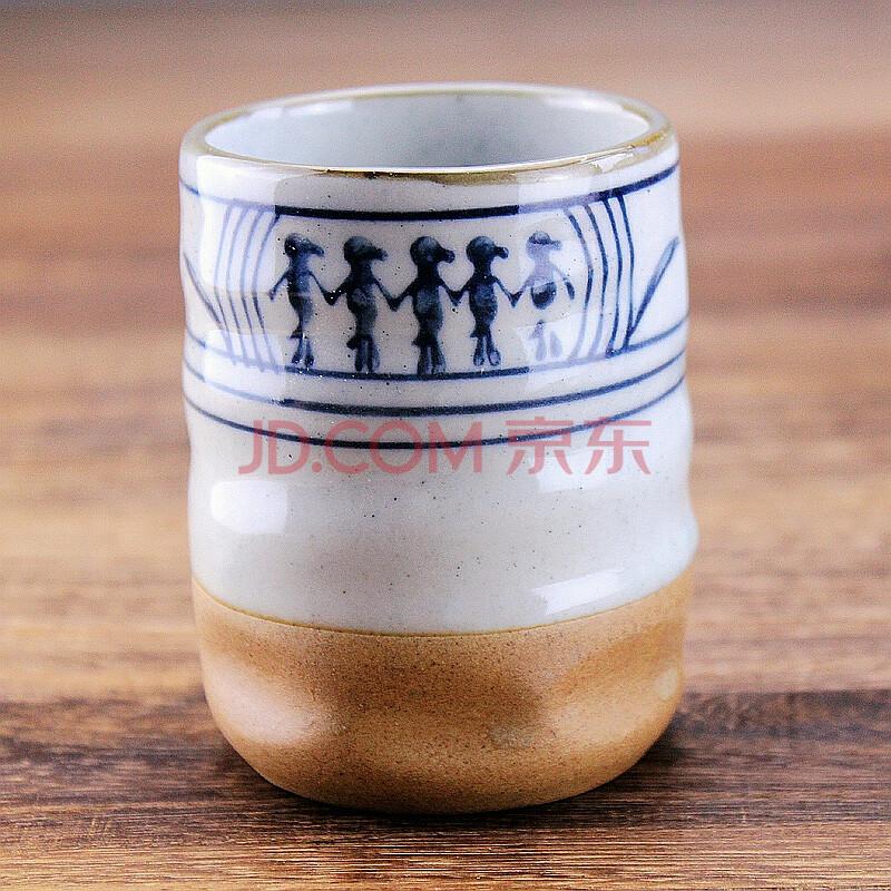 复古手绘粗陶奶杯茶杯