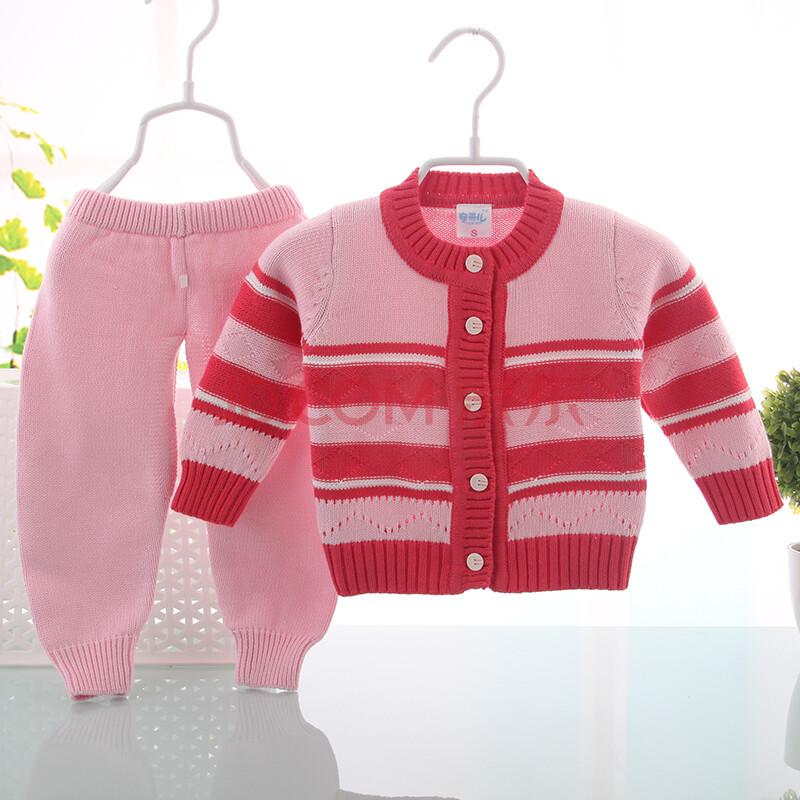 新生儿婴儿毛衣套装 婴儿宝宝毛衣全棉针织衫套装 婴儿春秋套8043