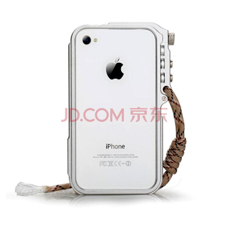 voia 潮壳 机械手臂金属边框手机壳保护外壳 适用于苹果iphone4/4s