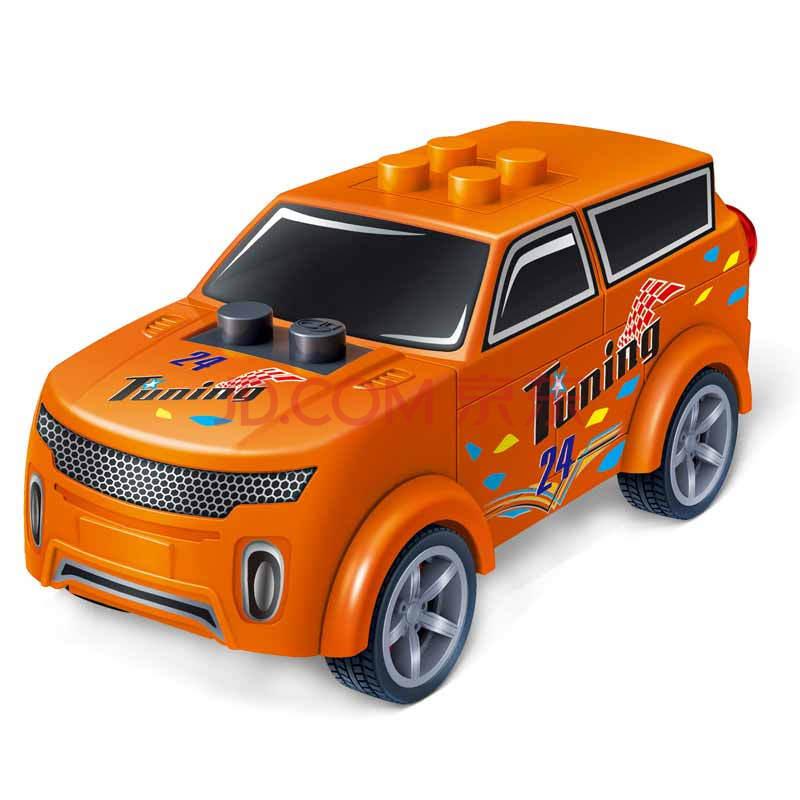 邦宝飞机益智颗粒儿童回力车玩具车汽车模型玩具拼装组装男孩带教玩具设计与制作积木图片
