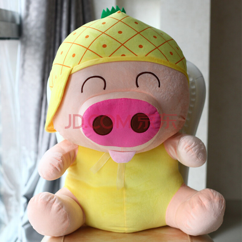 咔咔火车视频猪创意毛绒玩具公仔布偶布娃娃教程火车菠萝组装麦兜水果玩具积木图片