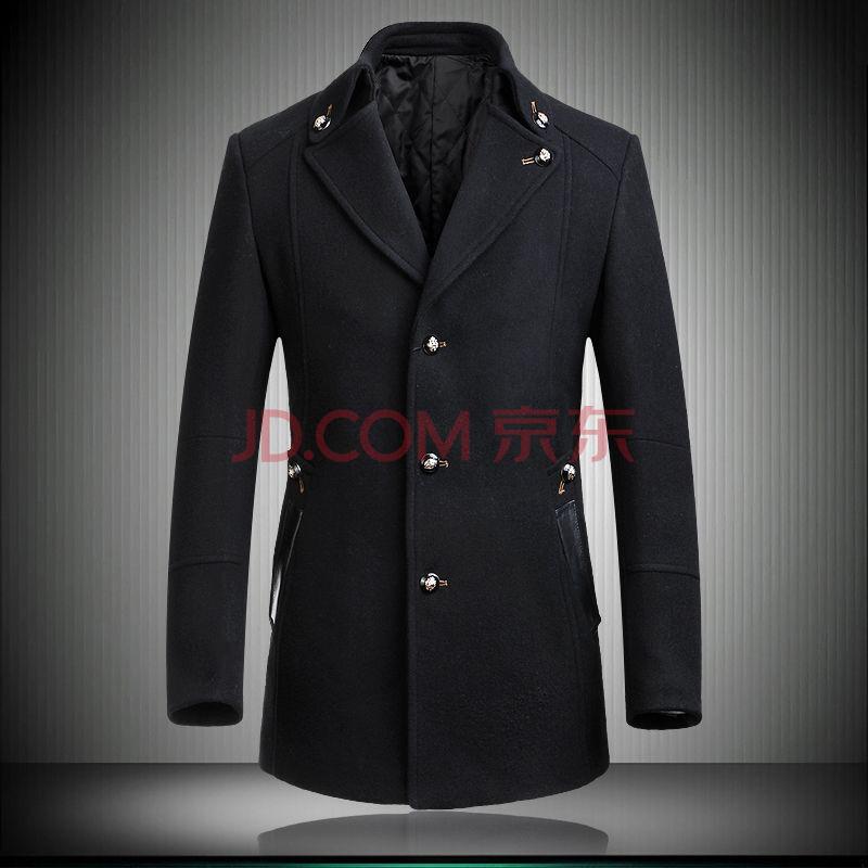 男士羊毛呢子大衣外套