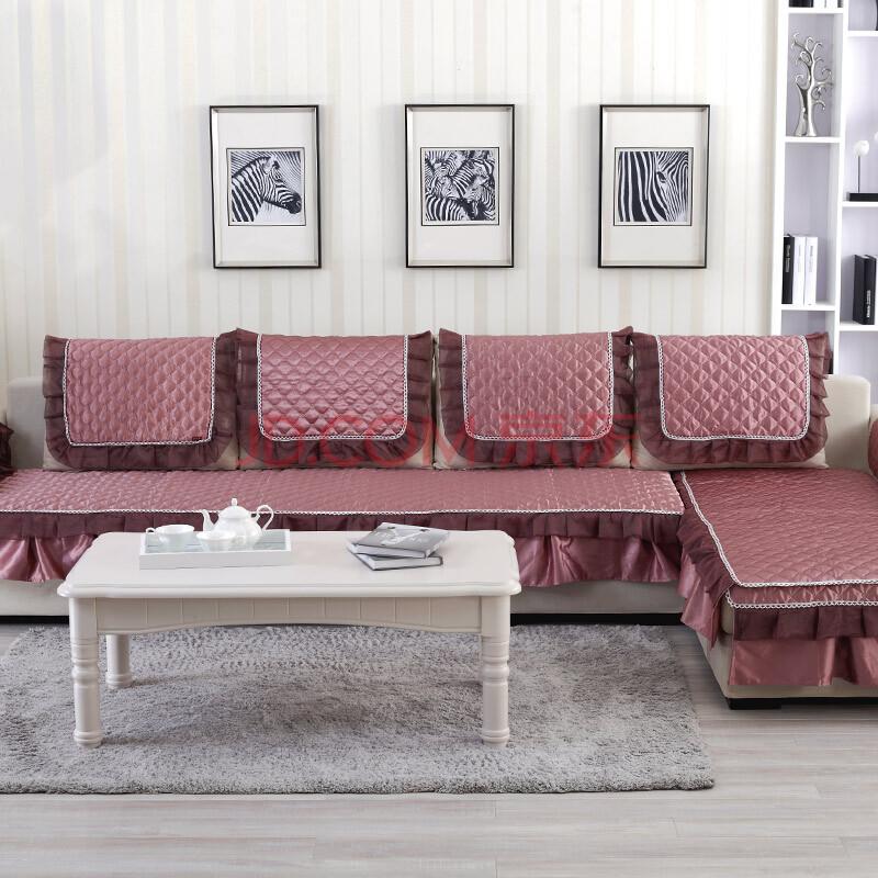 木儿家居沙发垫布艺坐垫田园时尚防滑沙发套沙发巾沙发罩高档 曼莎丽