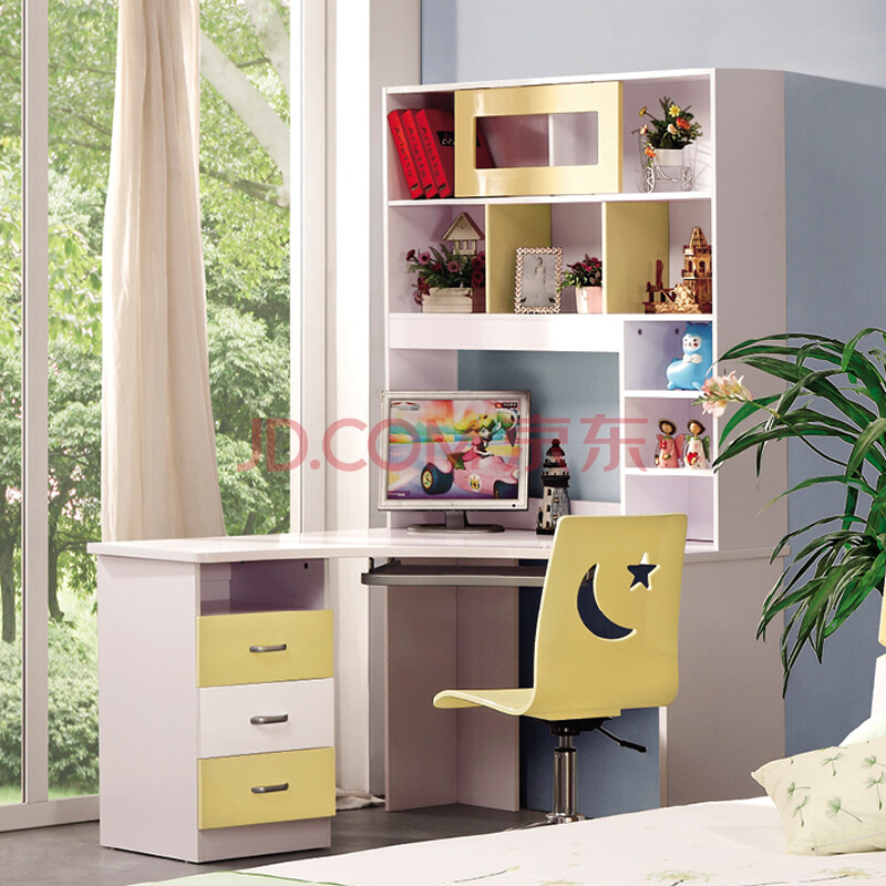 桌柜组合带书桌书柜书架