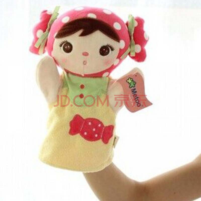 可爱卡通女孩亲子游戏毛绒玩具手偶宝宝安抚娃娃手套