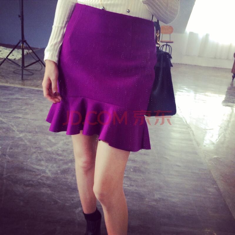 呢子包臀裙半身裙女