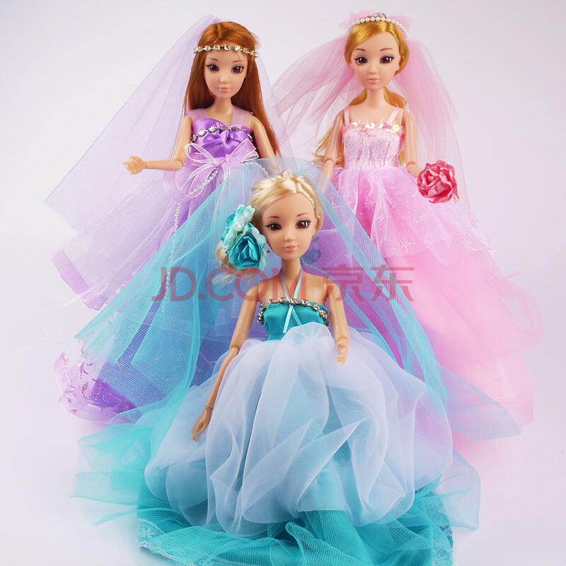 芭比娃娃 套装礼盒芭比娃娃玩具婚纱娃娃女孩洋