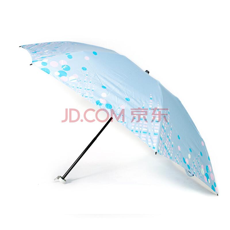 elle防紫外线太阳伞折叠晴雨伞超轻超强防女遮阳伞浅蓝色热补胶轮胎图片