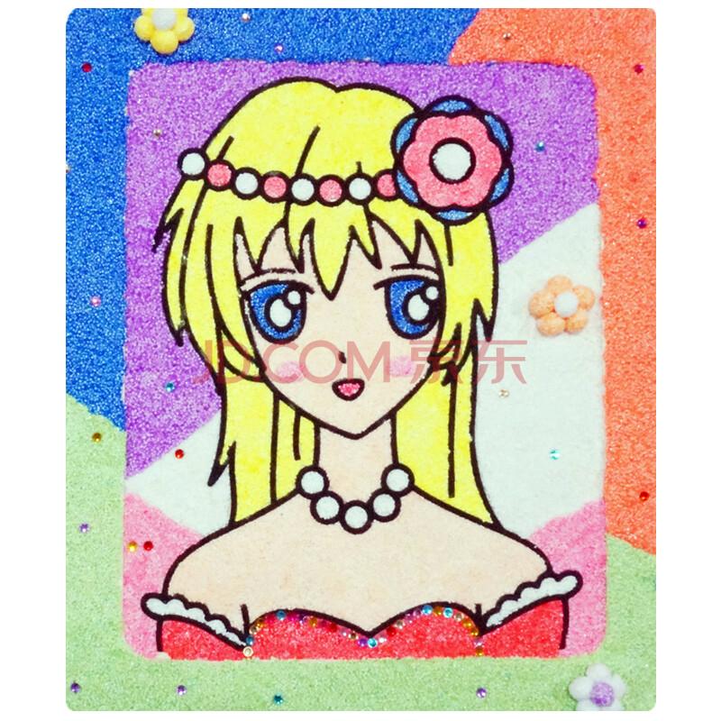 儿童手工画 绘画工具 创意diy珍珠粘土画