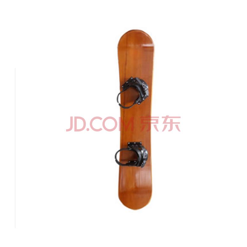 户外冬季娱乐休闲板手工滑雪板实木木质 滑雪装备 木色