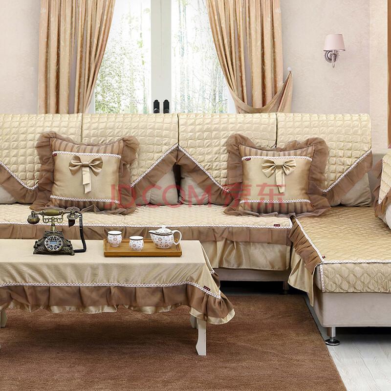 骆易家 高档欧式沙发垫四季沙发套罩巾 沙发坐垫布艺防滑皮沙发垫套装图片