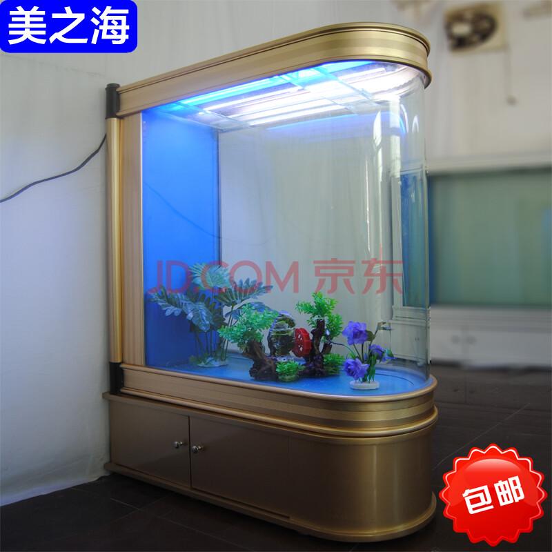 子弹头鱼缸生态鱼缸水族箱屏风隔断鞋柜免换水底过滤海水缸1.图片
