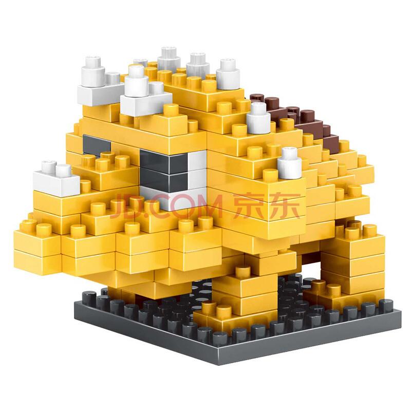乐高式钻石拼装小玩具玩具颗粒拼插拼砌系列塑料入门级三角龙-506积木战图片