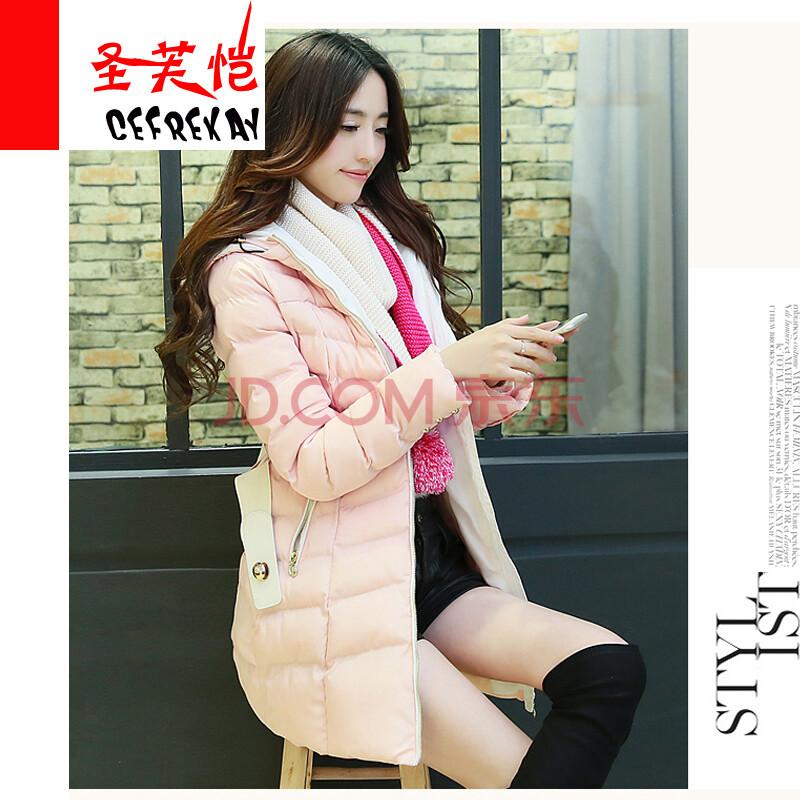 棉袄外套女装送围巾