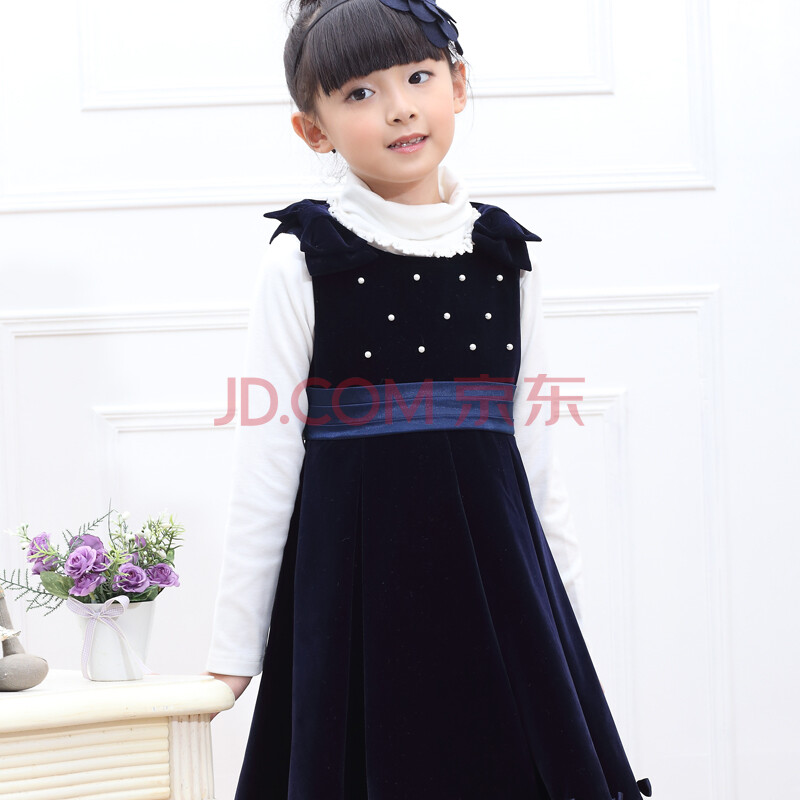 儿童服装中大童女童裙子