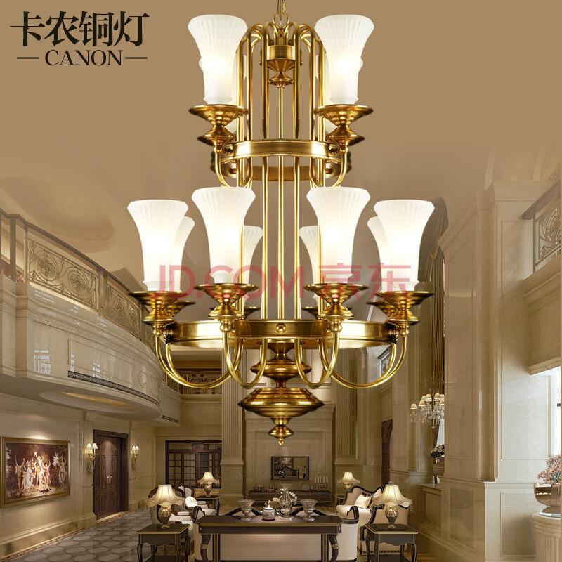 卡农铜灯 全铜灯 楼梯吊灯 楼梯间吊灯 楼道灯 美式客厅吊灯具 欧式图片