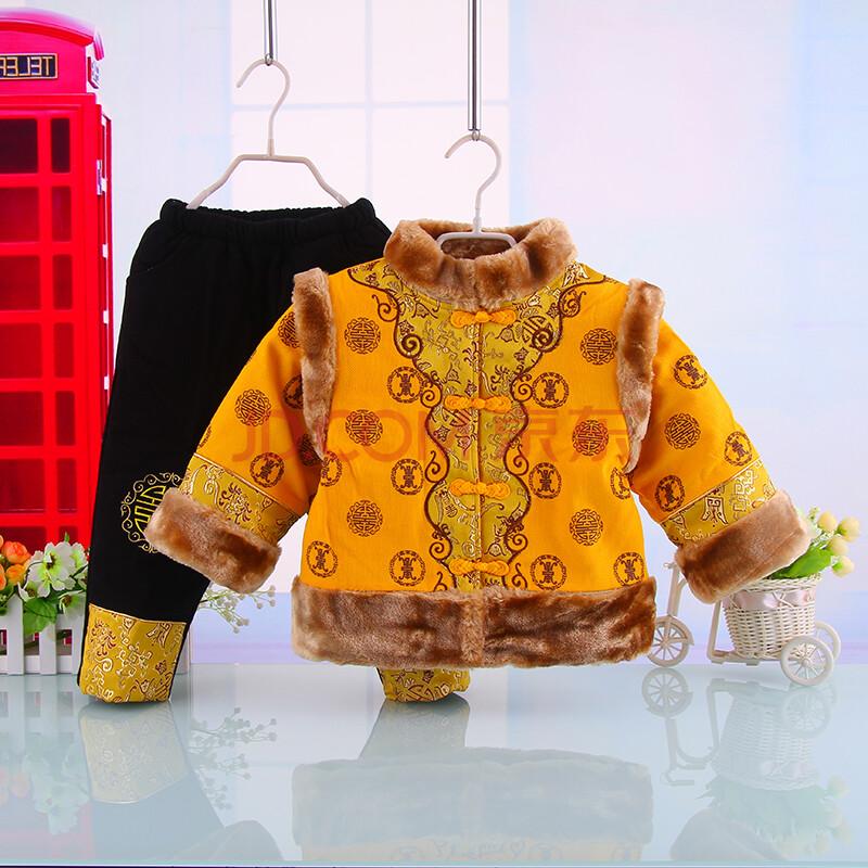 儿童唐装男童冬装古装加厚棉衣婴儿周岁礼服新年童装
