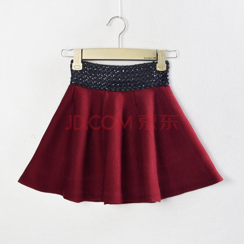 a字裙荷叶边半身裙弹力针织裙厚裙打底短裙子