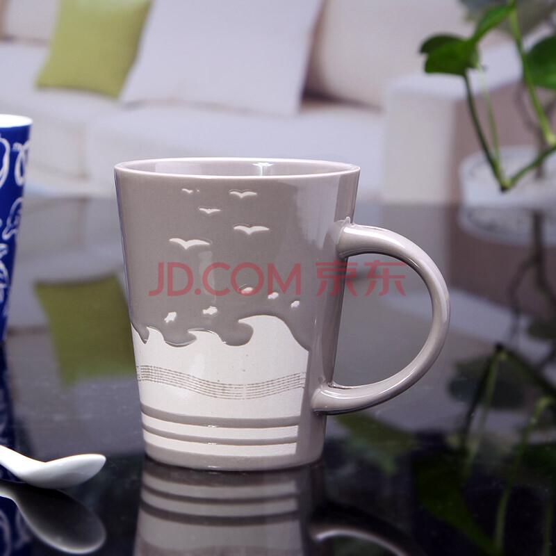 海洋季风 特色 手绘陶瓷杯子 大号马克杯 个性咖啡杯 复古餐厅茶水杯