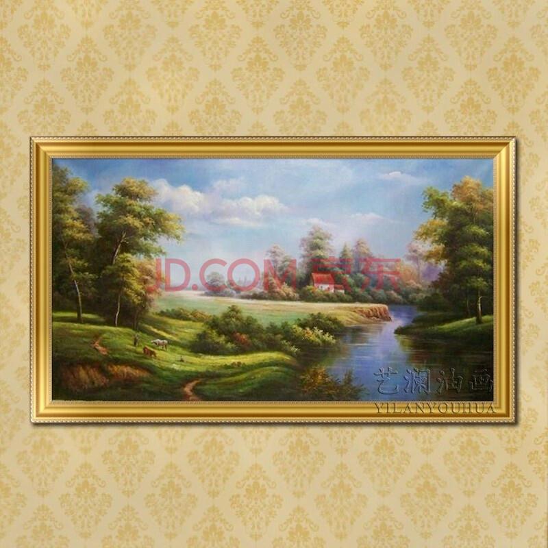 艺澜高档纯手绘风景油画 大型工程壁画定制 家居客厅沙发墙壁挂画sh38