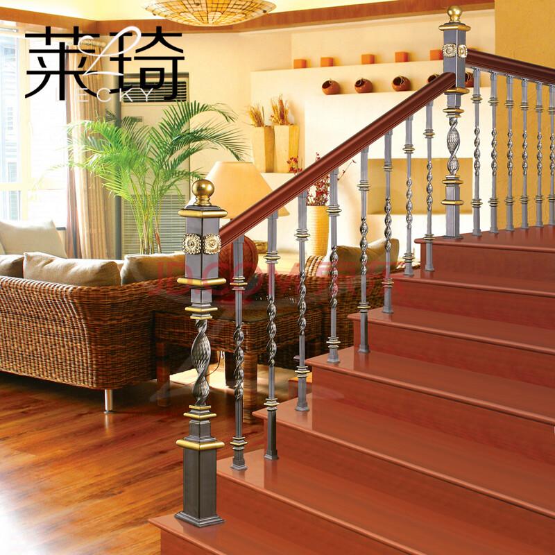 莱琦铁艺楼梯 安东尼-s20b 实木楼梯扶手 铁艺楼梯立柱 复式别墅图片