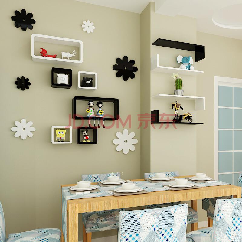 时尚简约创意欧式 客厅墙上隔板置物架 壁挂架子餐厅背景墙装饰隔板搁