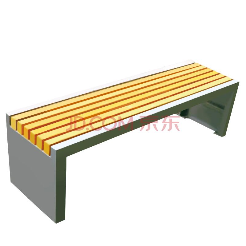 沃尔克 厂家直销 室外公园椅 木制长条凳子 户外休闲