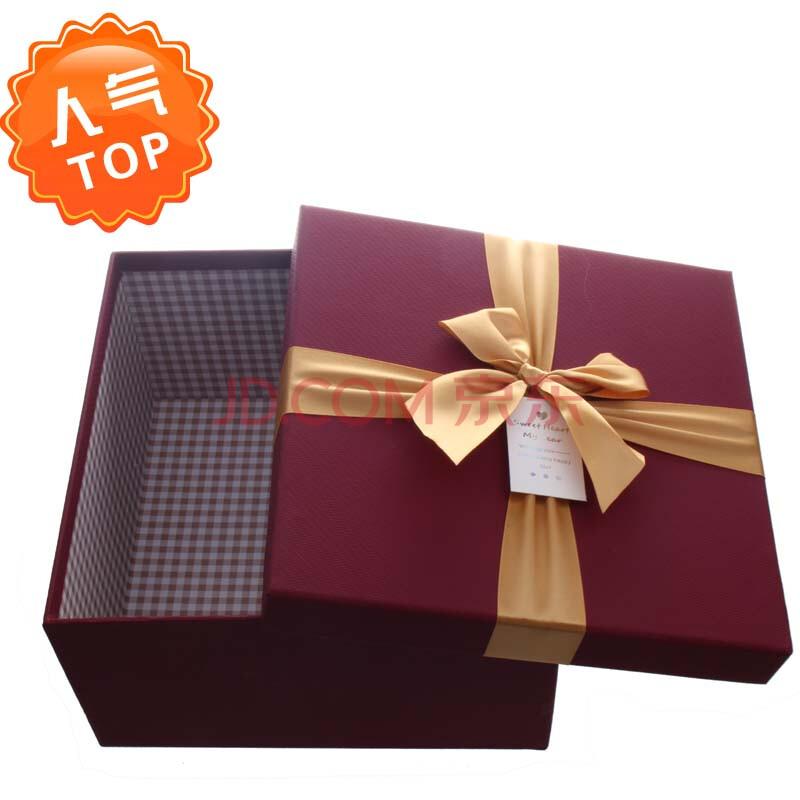 新品特价正方形大号蝴蝶结礼品盒