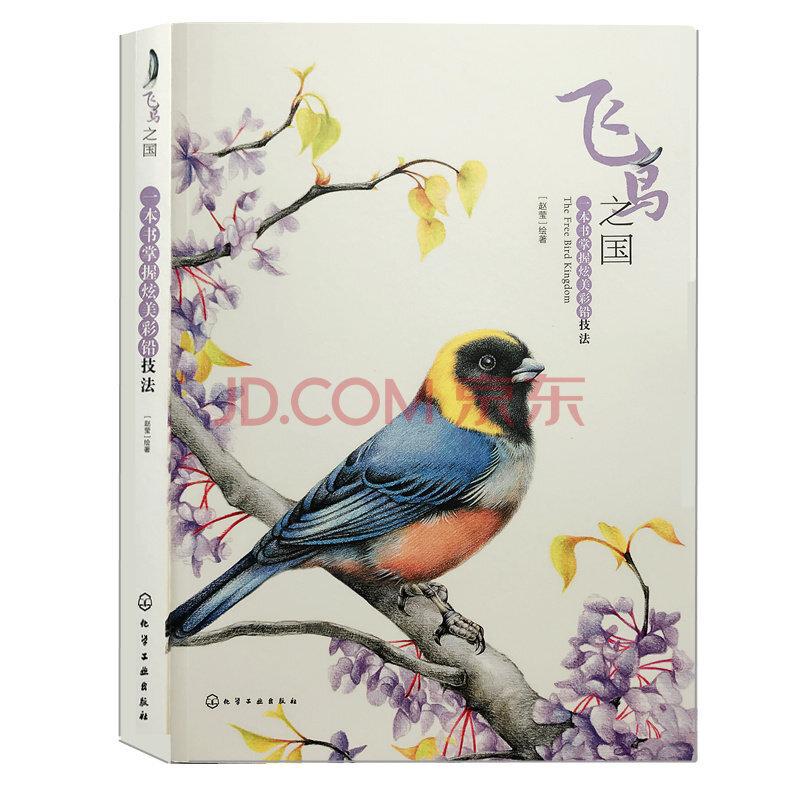 正版彩色铅笔画画各类飞鸟画入门教程铅笔手绘麻雀鹦鹉