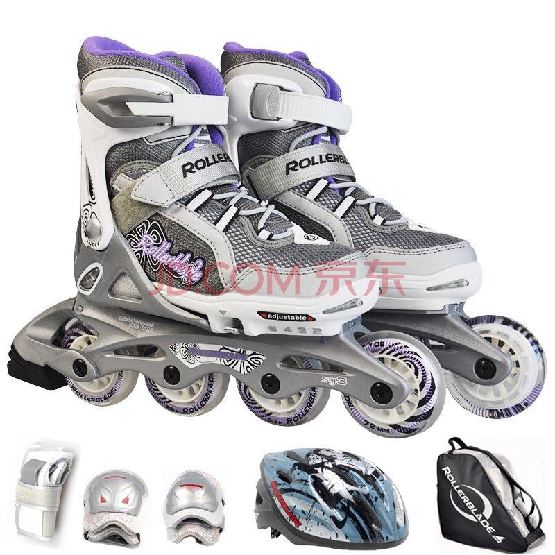 rollerblade罗勒布雷德 儿童直排轮滑rb旱冰鞋 4段伸缩调节炫彩闪光