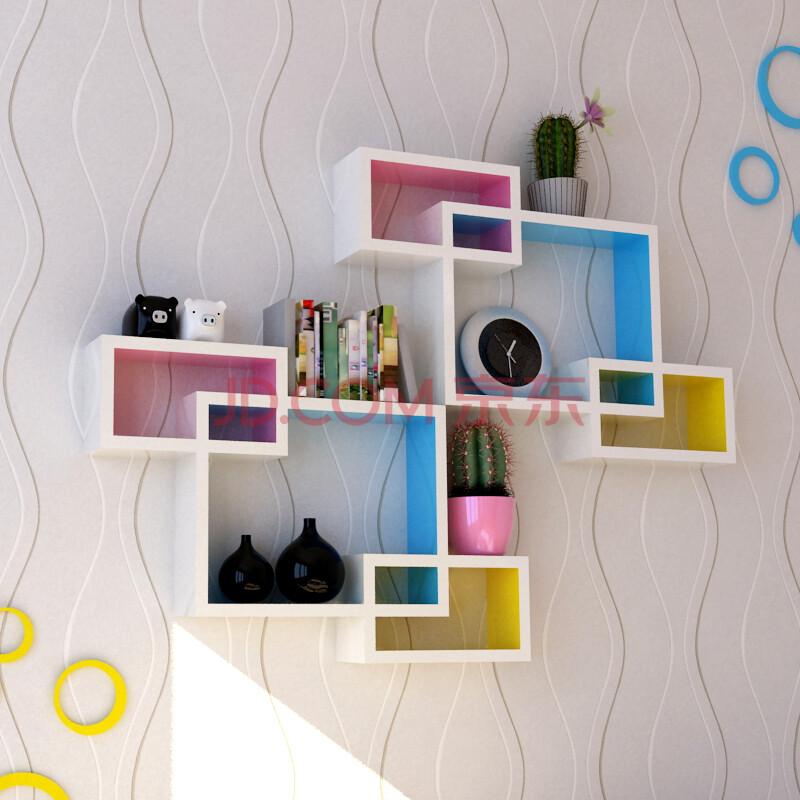 创意格子家居墙上隔板置物架搁板电视背景墙装饰架壁架柜墙壁层板墙面图片