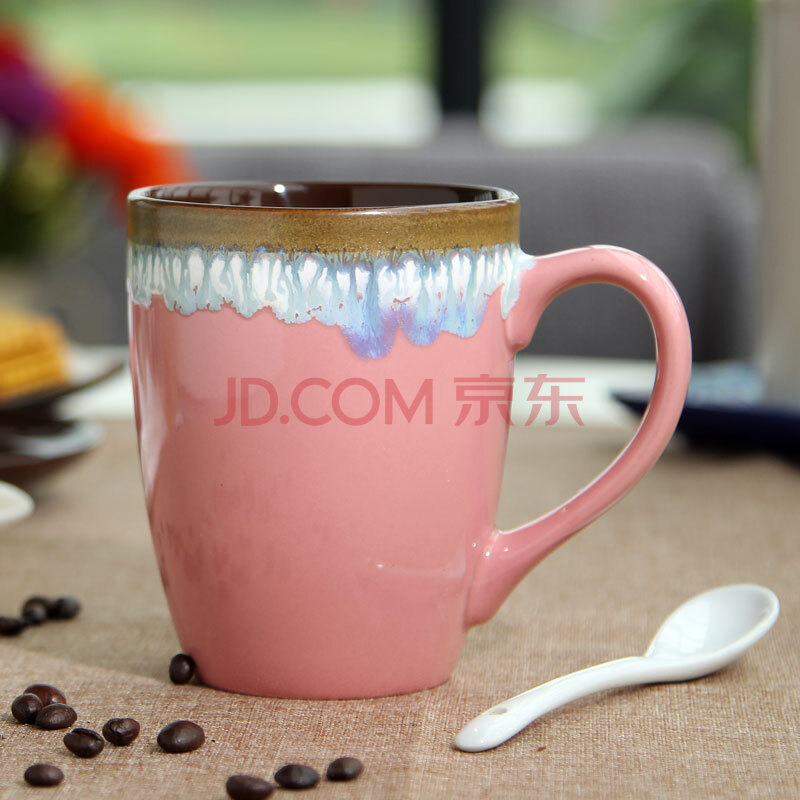 简约 窑变流釉 特色手绘 陶瓷杯子 咖啡杯 马克杯 个性牛奶茶水杯复古
