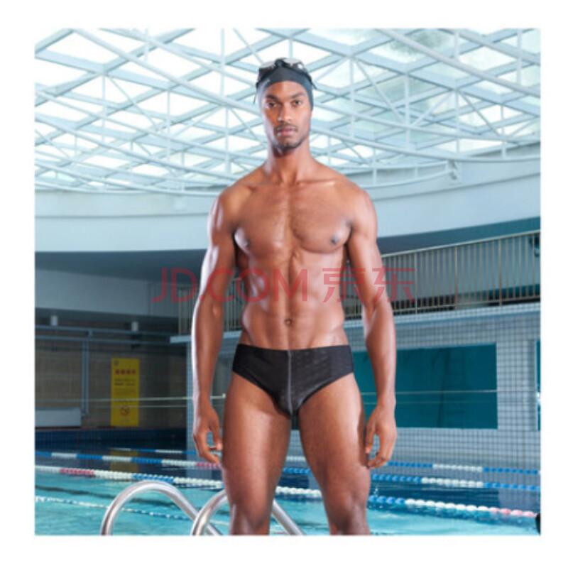 时尚游泳裤 专业训练男三角泳裤 亦美珊yms7108 黑色 xl