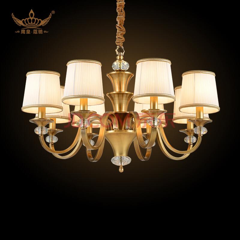 蔻驰 美式全铜吊灯 欧式客厅灯灯具 餐厅吊灯 卧室灯图片