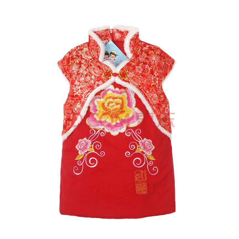 棉衣儿童唐装 宝宝旗袍中国风新年装1岁2岁3岁