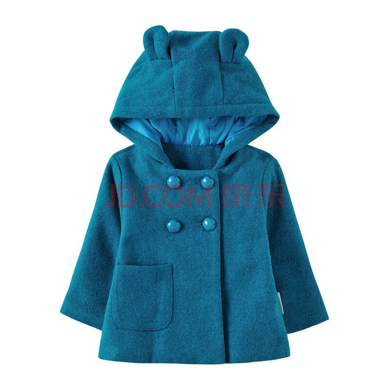 女宝宝连帽加厚外套 儿童服装