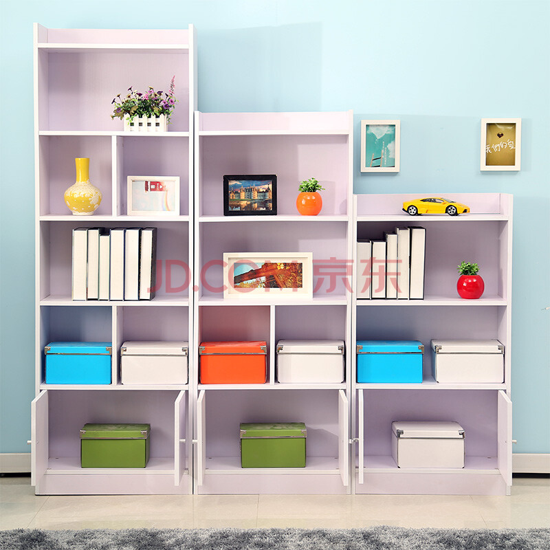 简约现代韩式自由组合书柜儿童书柜彩色柜子古董时尚