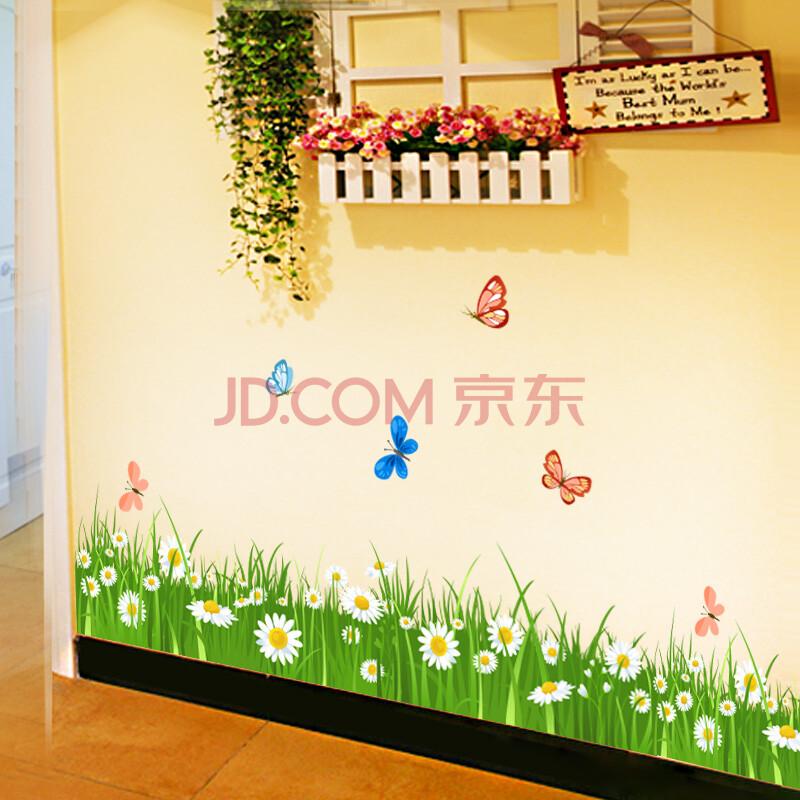 幼儿园走廊过道踢脚线墙贴 地脚线墙脚线贴纸贴画玻璃贴 真正环保可图片