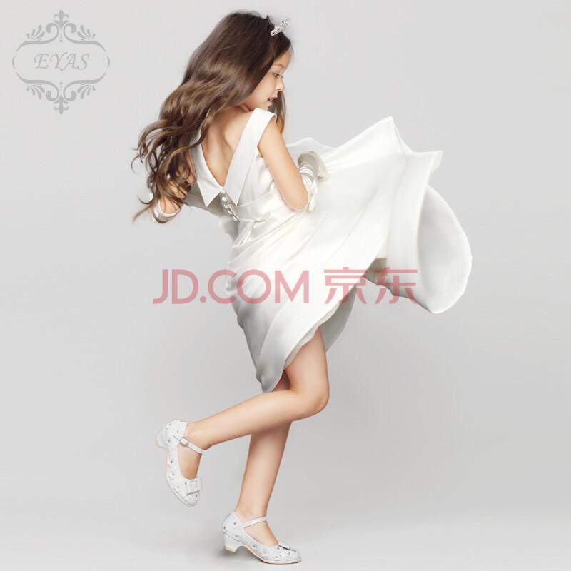 儿童婚纱白色礼服裙女童生日礼服公主裙蓬蓬裙
