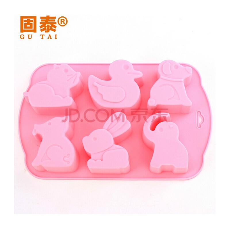 新款动物硅胶蛋糕模- 老鼠,鸭子 小狗 兔子 大象等 烘焙模具