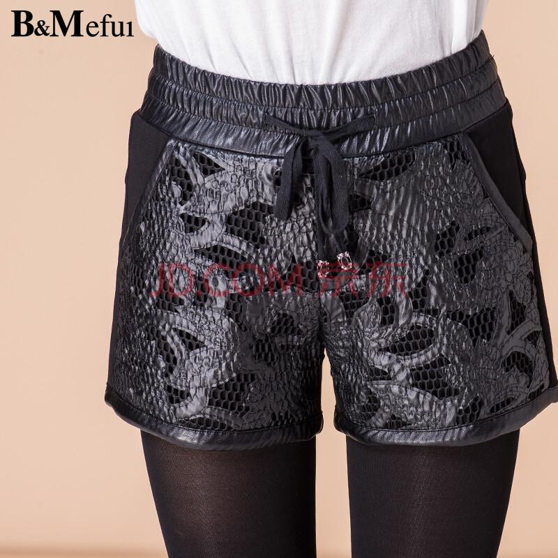 深色花纹裙裤搭配