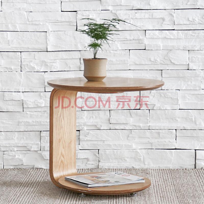 美达克 简约飘窗小茶几小户型木质沙发边桌边几可移动茶桌创意客厅家具