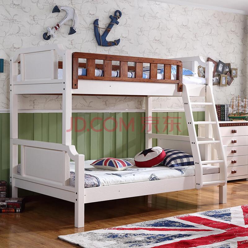 宏友木直销全实木美式乡村上下床儿童高低床地中海子