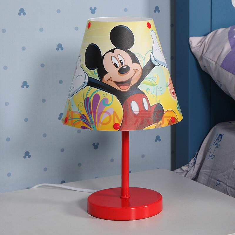 迪士尼 酷漫居儿童创意小台灯 可爱卡通台灯 卧室床头灯 米奇台灯图片