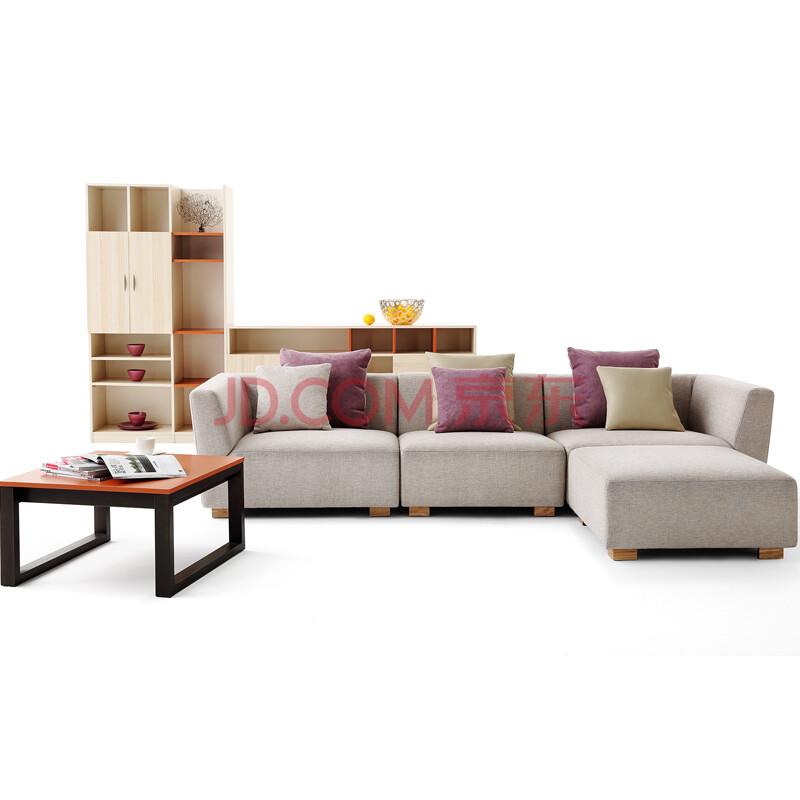 曲美家具-客厅布艺 沙发 图片