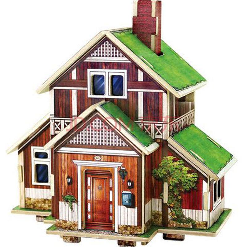 若态科技 世界风情diy手工制作 房子建筑模型 益智拼装玩具儿童礼物